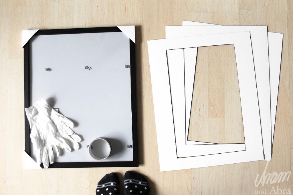 bilder einrahmen wie die profis eine schritt f r schritt anleitung. Black Bedroom Furniture Sets. Home Design Ideas