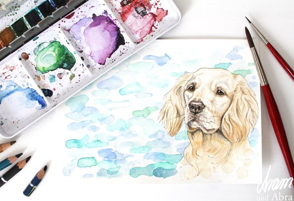 Ein Bild vom eigenen Hund malen lassen - das musst du wissen