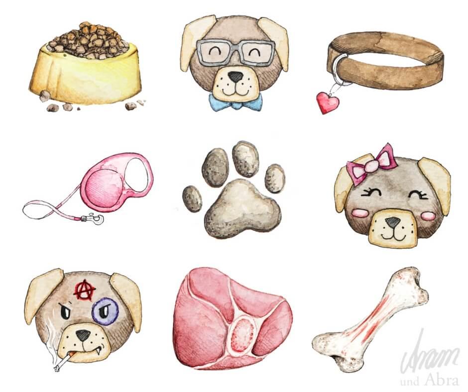 Aram und Abra_Illustrationen für Hundeblogger