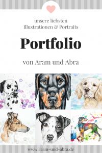 Portfolio: Illustration, Kunst und Hundeblog Aram und Abra