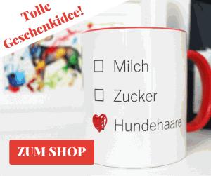 Tasse Milch Zucker Hundehaare - Aram und Abra Shop