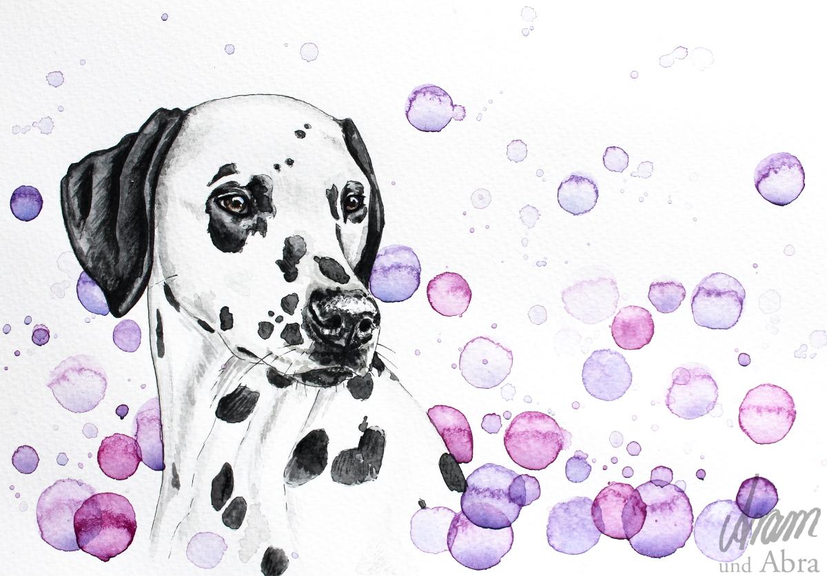 Hund malen lassen - Auftragsarbeiten von Aram und Abra