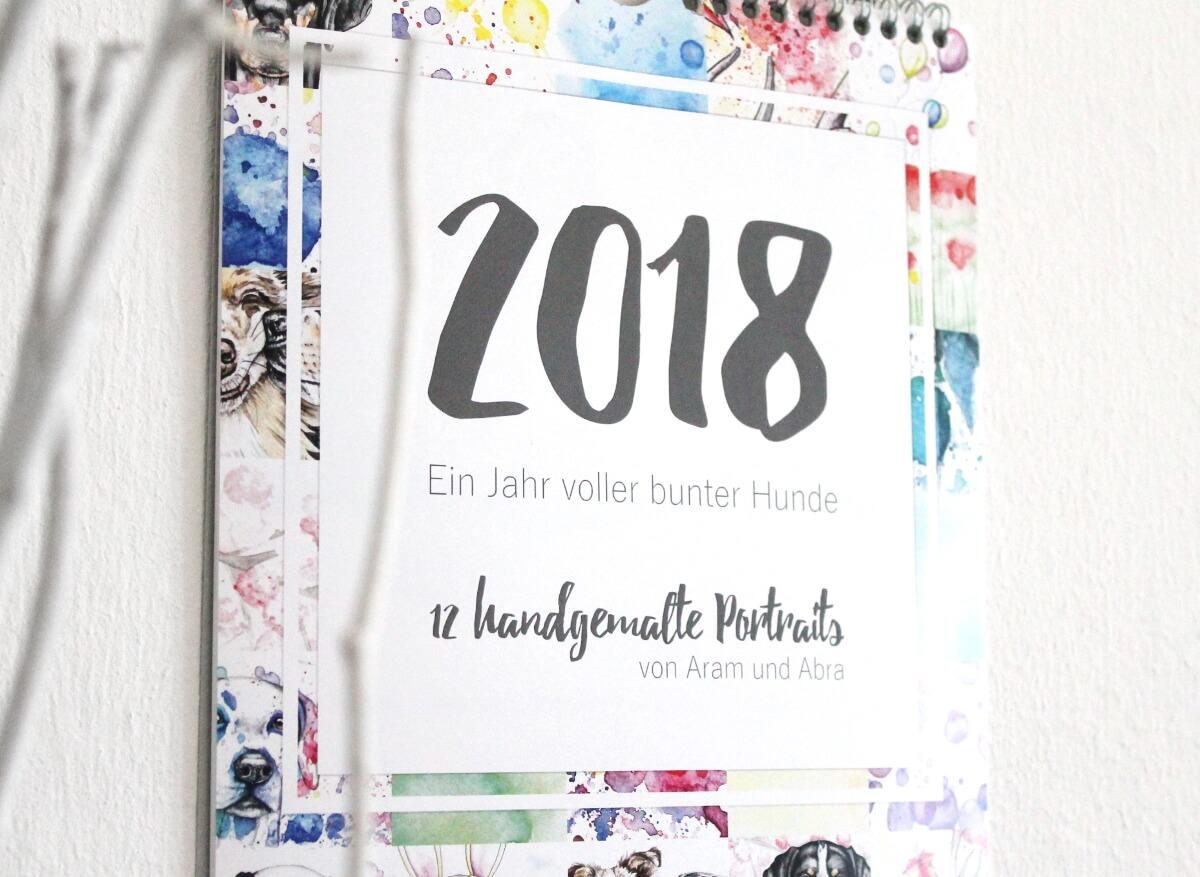 Kalender Hunde 2018_Tierportraits_handgemalte Aquarelle_Aram und Abra_2