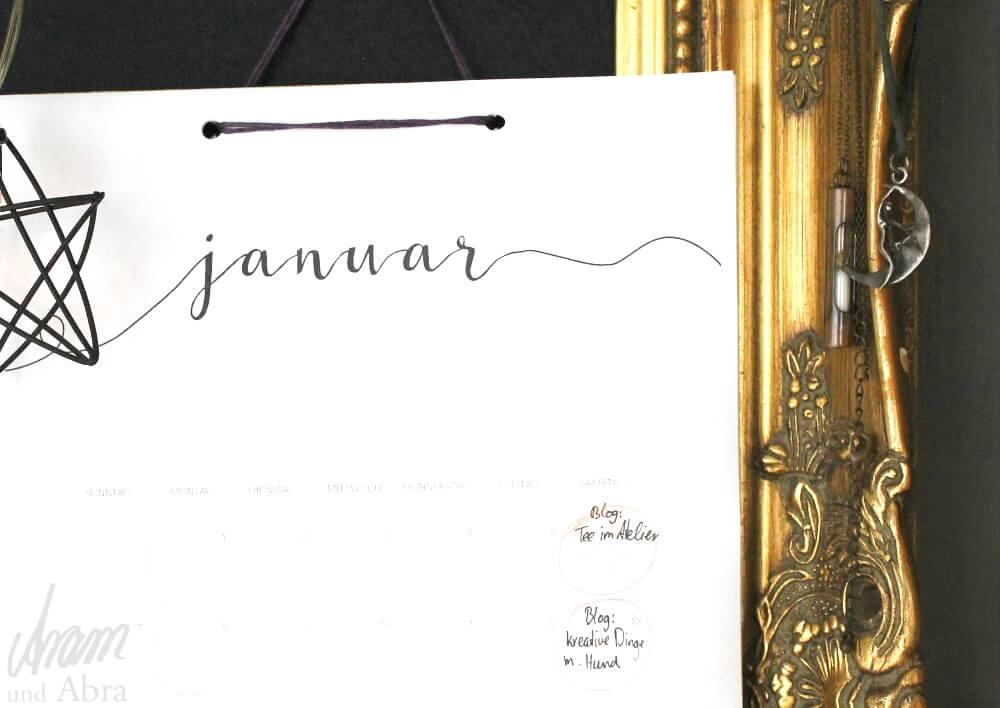 Tee im Atelier_Aram und Abra_Kalender