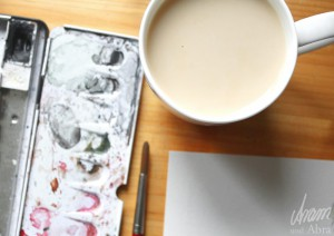 Tee im Atelier_Aram und Abra_Malen