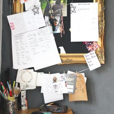Tee im Atelier_Aram und Abra_Schreibtisch 2