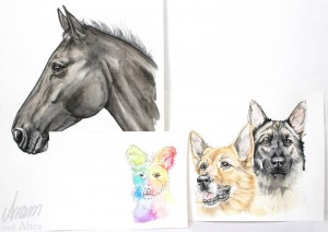 Tee im Atelier_Aram und Abra_Zeichnungen