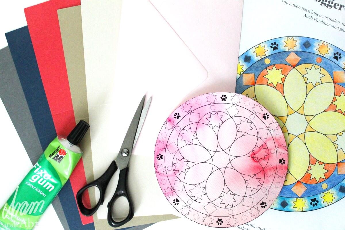 Weihnachtliches Mandala im Dogblogger Adventskalender