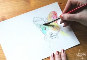 Tee im Atelier_Aram und Abra_Hund malen lassen_2