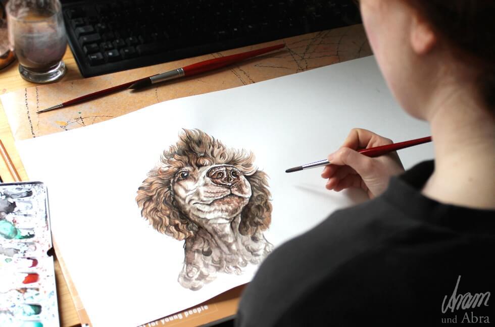 Kunst und Hund als Berufung_Aram und Abra Tierportrait